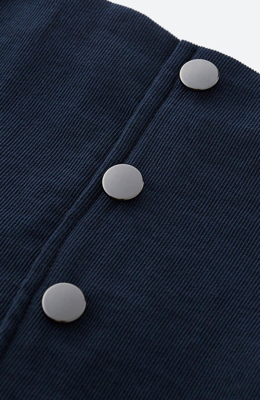 haco!  腹巻きとは呼ばせない ブルー期も華やかに過ごせる消臭加工裏地付きフリルデザインスカートセット【ブルー期】女の子バンザイ!プロジェクト <ネイビー>の商品写真5