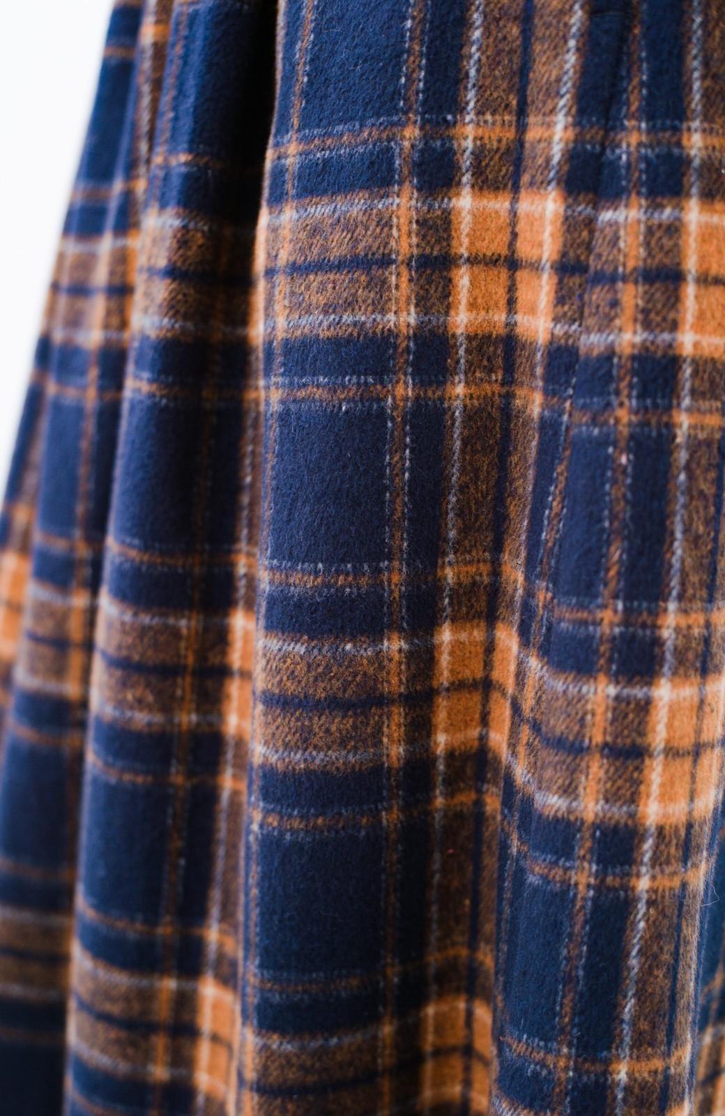 haco! ギリギリ女子のタイツなしでもいけるんちゃうか起毛チェックロングスカート <ネイビー>の商品写真8