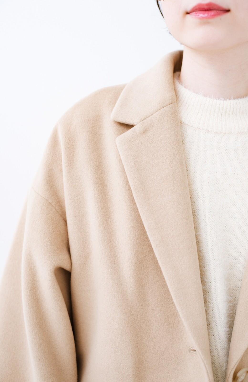 haco! ギリギリ女子の防寒で終わらず華やかにいけるんちゃうか 袖ぷっくりチェスターコート <ベージュ>の商品写真3