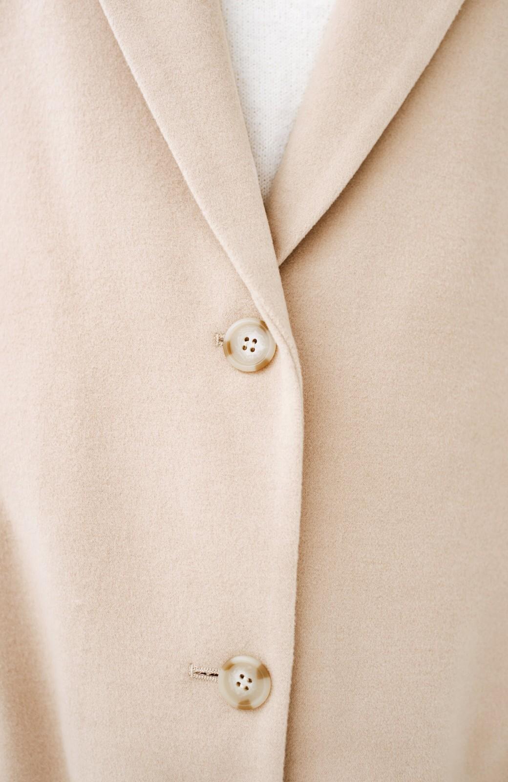 haco! ギリギリ女子の防寒で終わらず華やかにいけるんちゃうか 袖ぷっくりチェスターコート <ベージュ>の商品写真4