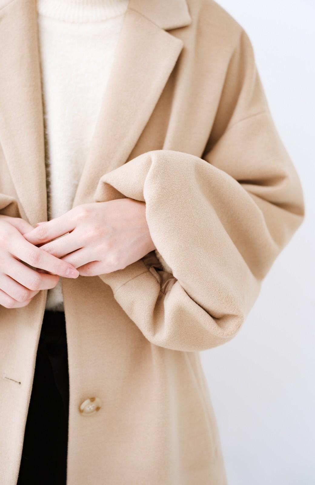 haco! ギリギリ女子の防寒で終わらず華やかにいけるんちゃうか 袖ぷっくりチェスターコート <ベージュ>の商品写真5