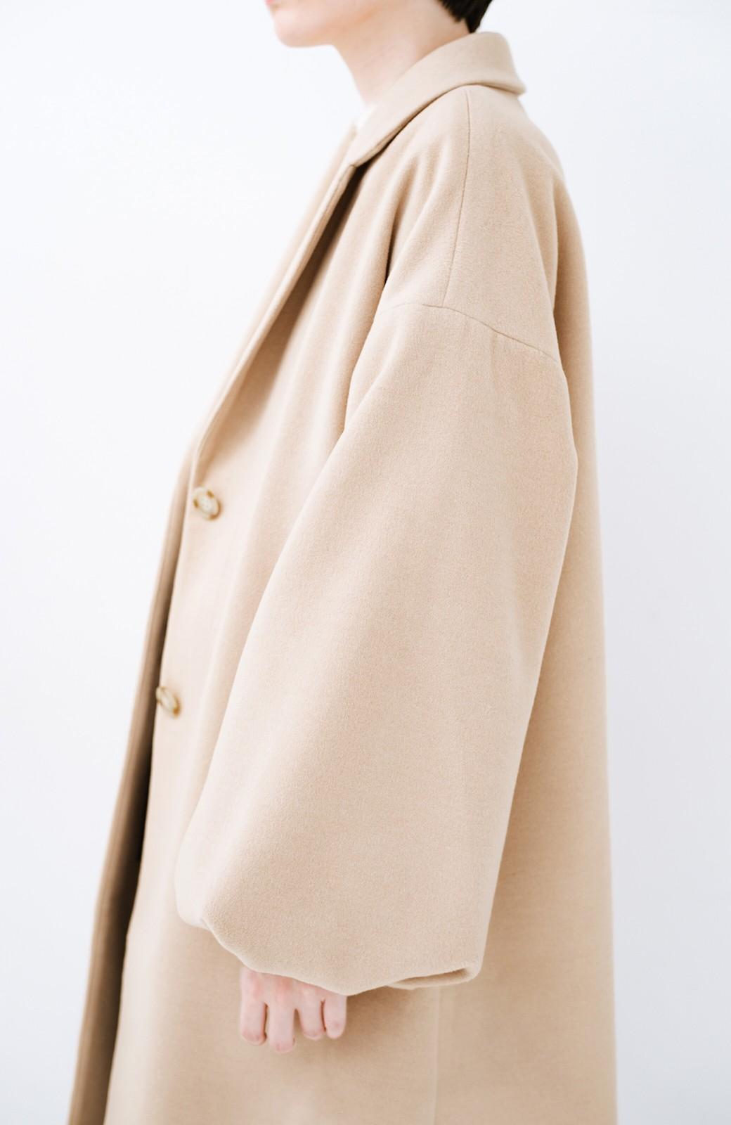 haco! ギリギリ女子の防寒で終わらず華やかにいけるんちゃうか 袖ぷっくりチェスターコート <ベージュ>の商品写真6