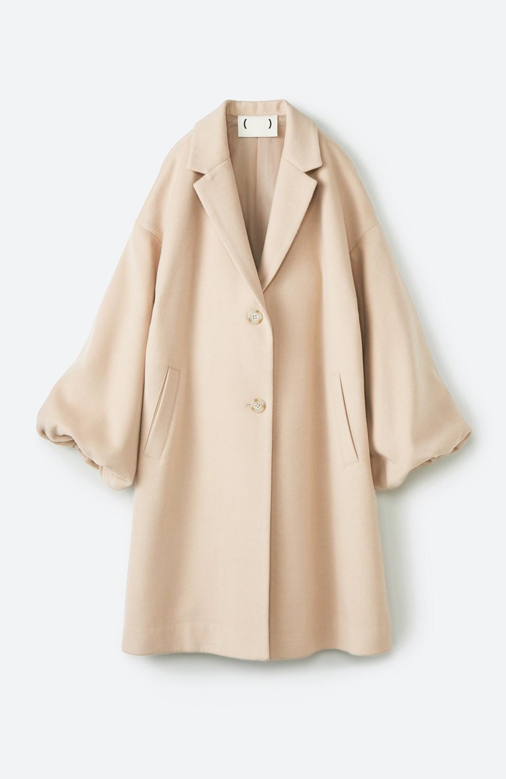 haco! ギリギリ女子の防寒で終わらず華やかにいけるんちゃうか 袖ぷっくりチェスターコート <ベージュ>の商品写真2