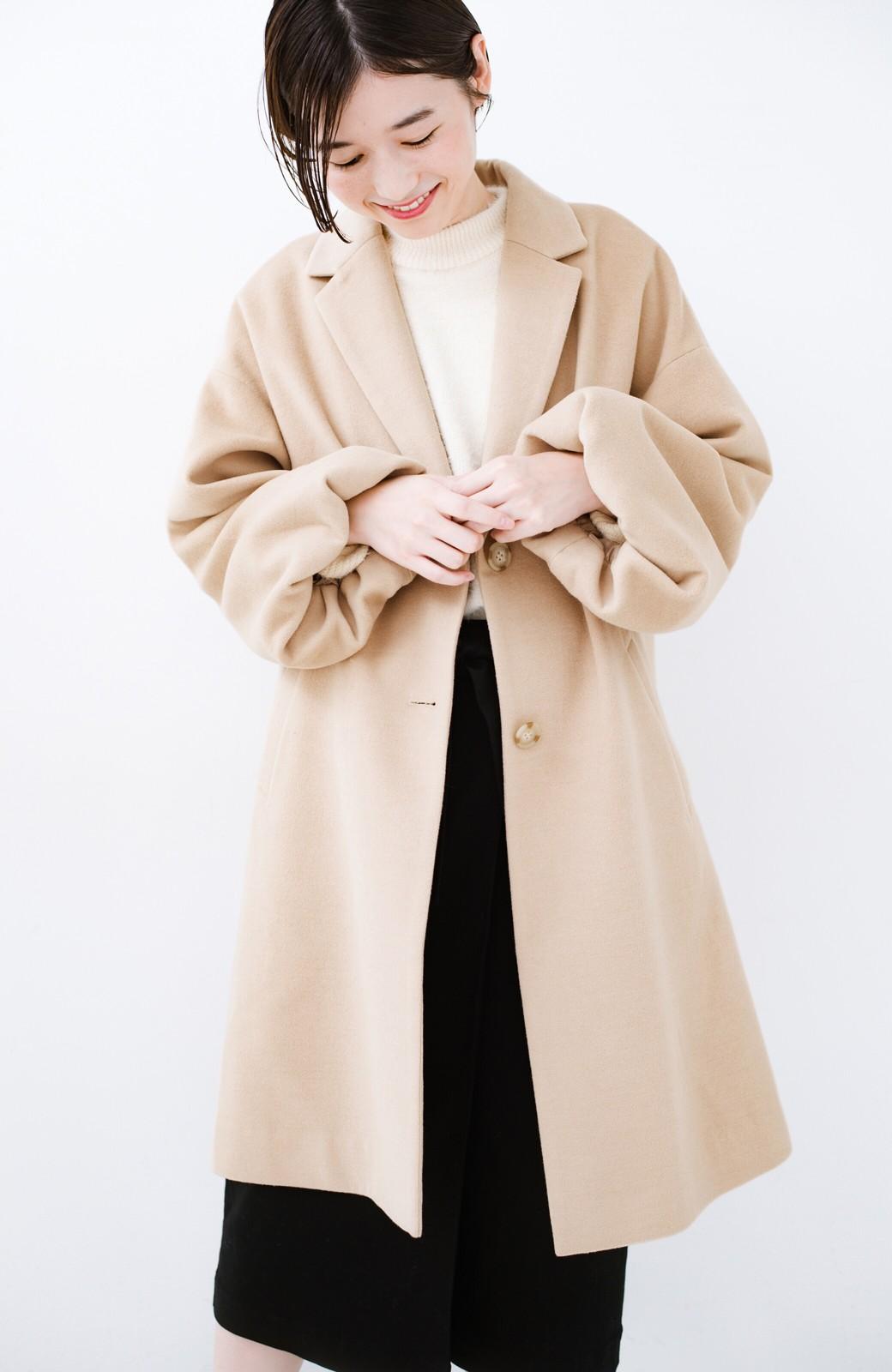 haco! ギリギリ女子の防寒で終わらず華やかにいけるんちゃうか 袖ぷっくりチェスターコート <ベージュ>の商品写真16