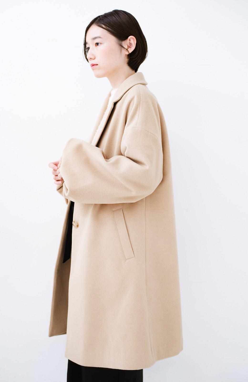 haco! ギリギリ女子の防寒で終わらず華やかにいけるんちゃうか 袖ぷっくりチェスターコート <ベージュ>の商品写真17