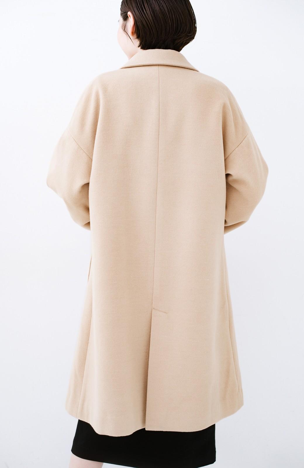 haco! ギリギリ女子の防寒で終わらず華やかにいけるんちゃうか 袖ぷっくりチェスターコート <ベージュ>の商品写真18