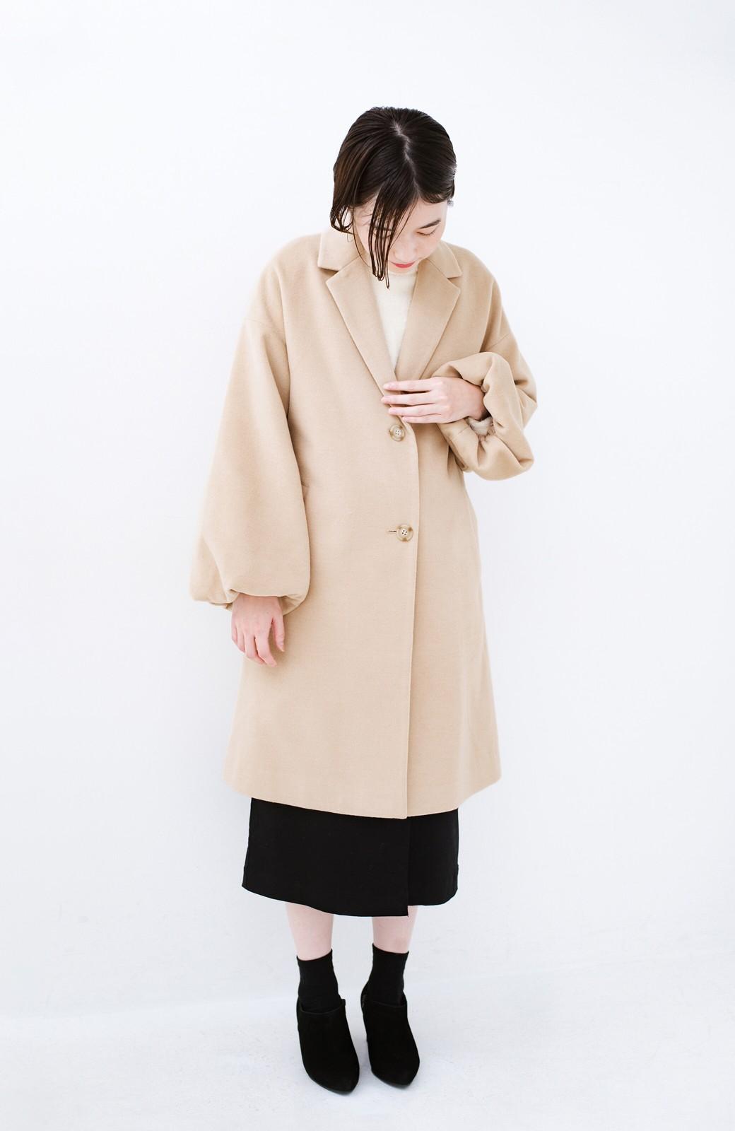 haco! ギリギリ女子の防寒で終わらず華やかにいけるんちゃうか 袖ぷっくりチェスターコート <ベージュ>の商品写真8
