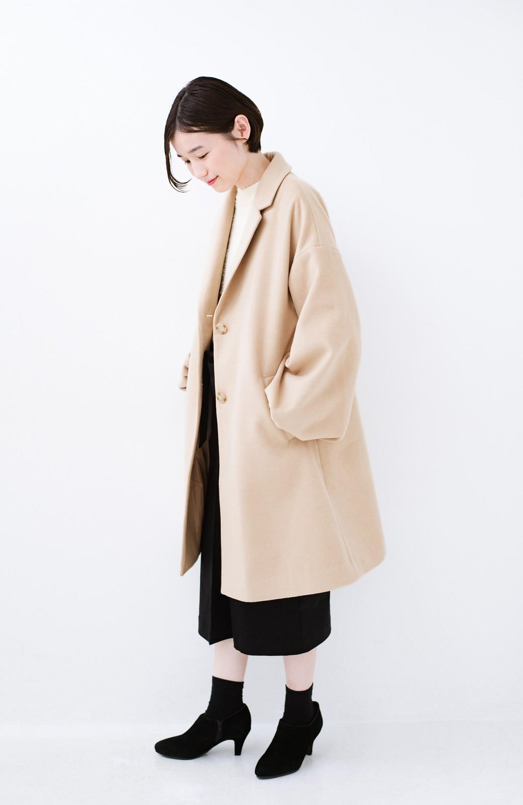 haco! ギリギリ女子の防寒で終わらず華やかにいけるんちゃうか 袖ぷっくりチェスターコート <ベージュ>の商品写真11