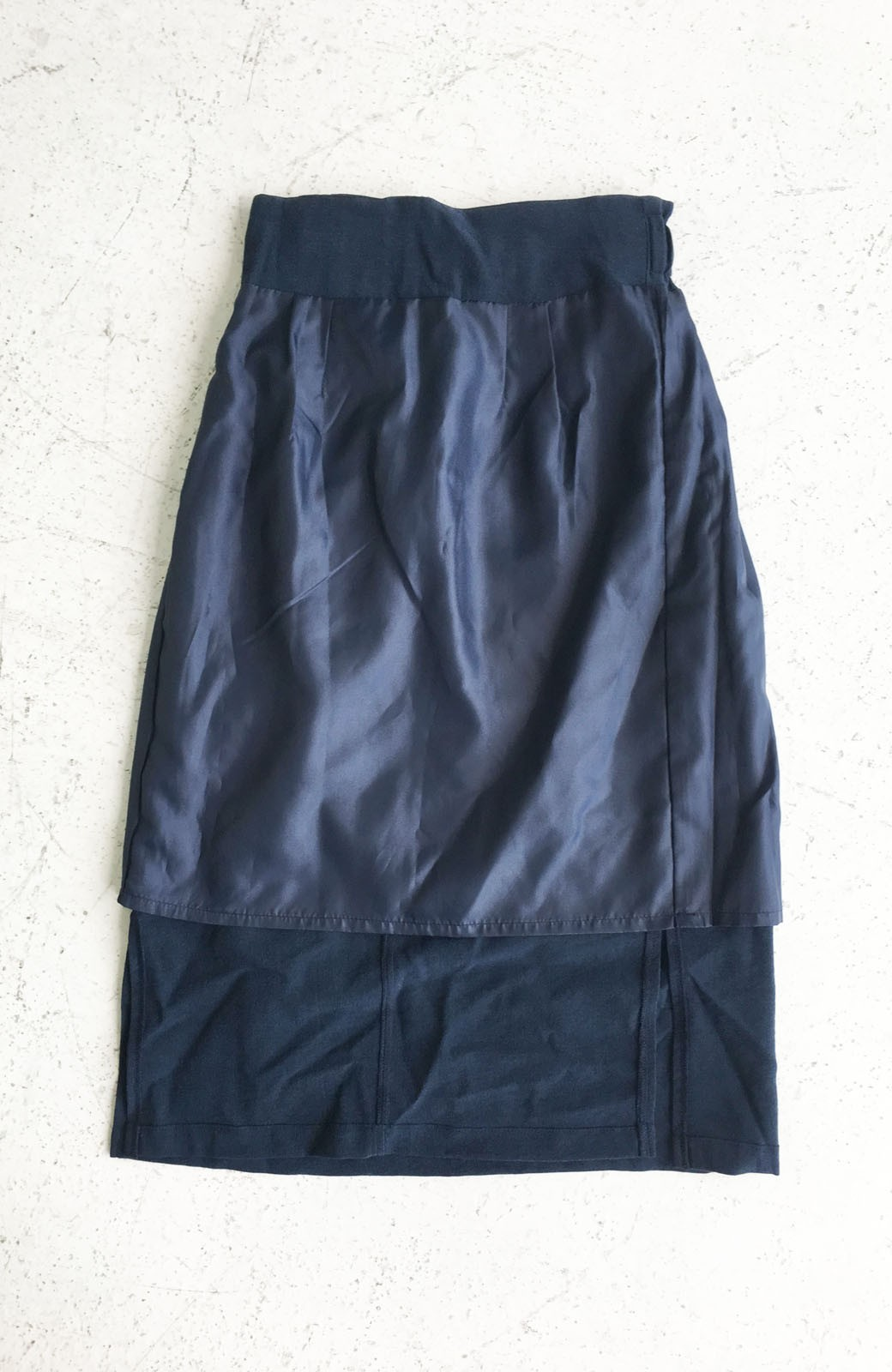 haco!  腹巻きとは呼ばせない ブルー期も華やかに過ごせる消臭加工裏地付きフリルデザインスカートセット【ブルー期】女の子バンザイ!プロジェクト <ネイビー>の商品写真6