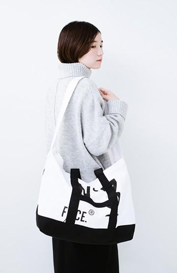 haco! F/CE. (エフシーイー)No.3 COMBINATION BOAT&TOTE BAG <ブラック×ホワイト>の商品写真