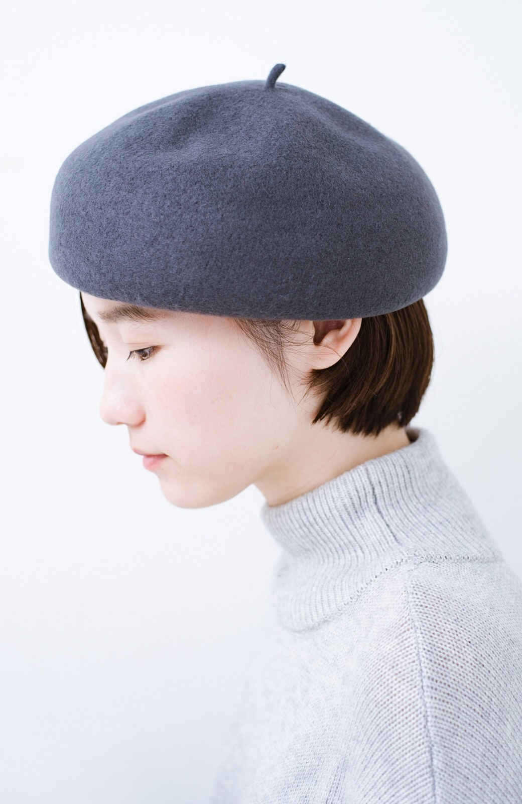 haco! バスクベレー帽 <グレー>の商品写真4