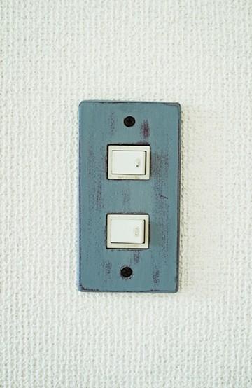 haco! カラースイッチカバー 2穴 <ブルー>の商品写真