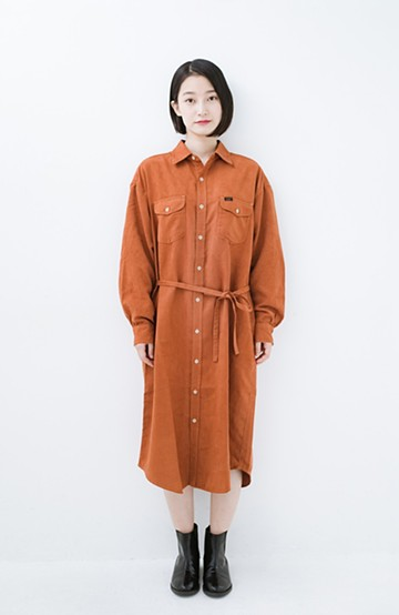 haco! Lady Lee ロングワークドレス <オレンジ>の商品写真