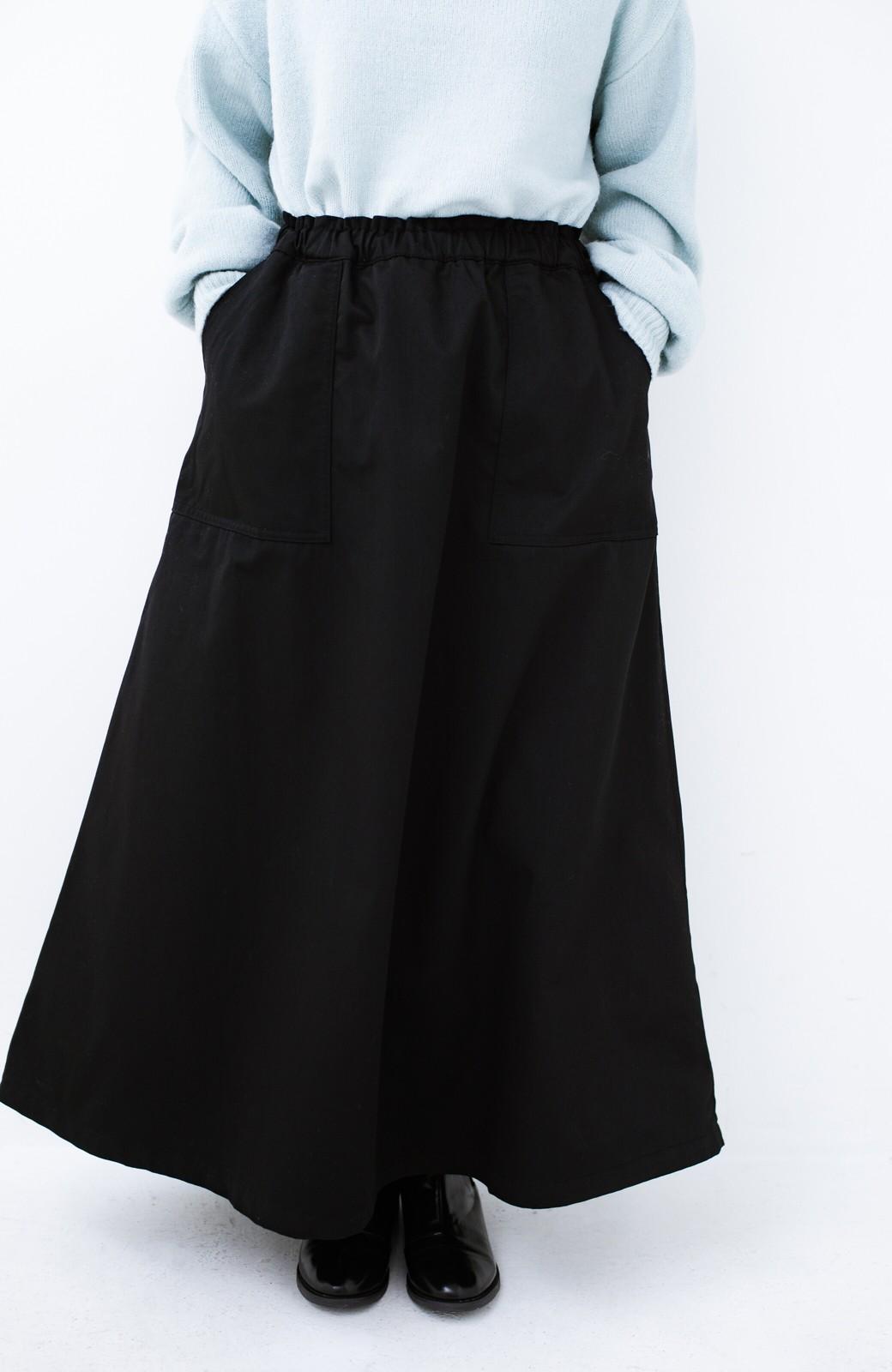 haco! Dickies TCツイル後ろインバーテッドスカート <ブラック>の商品写真2