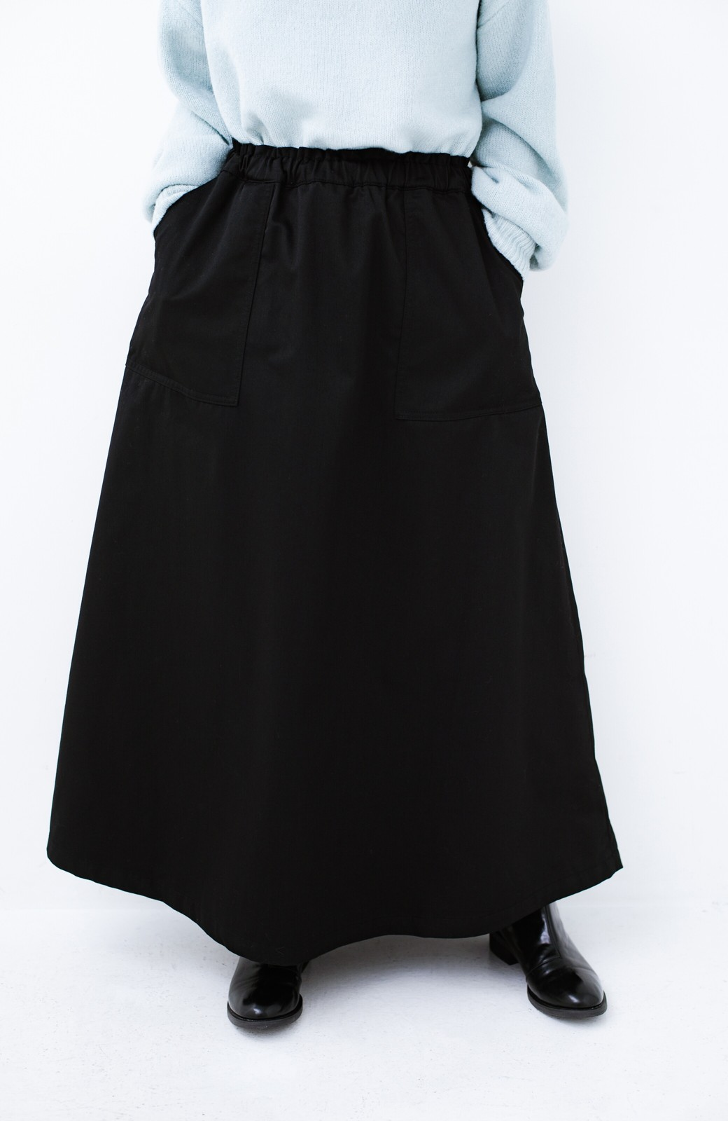 haco! Dickies TCツイル後ろインバーテッドスカート <ブラック>の商品写真1