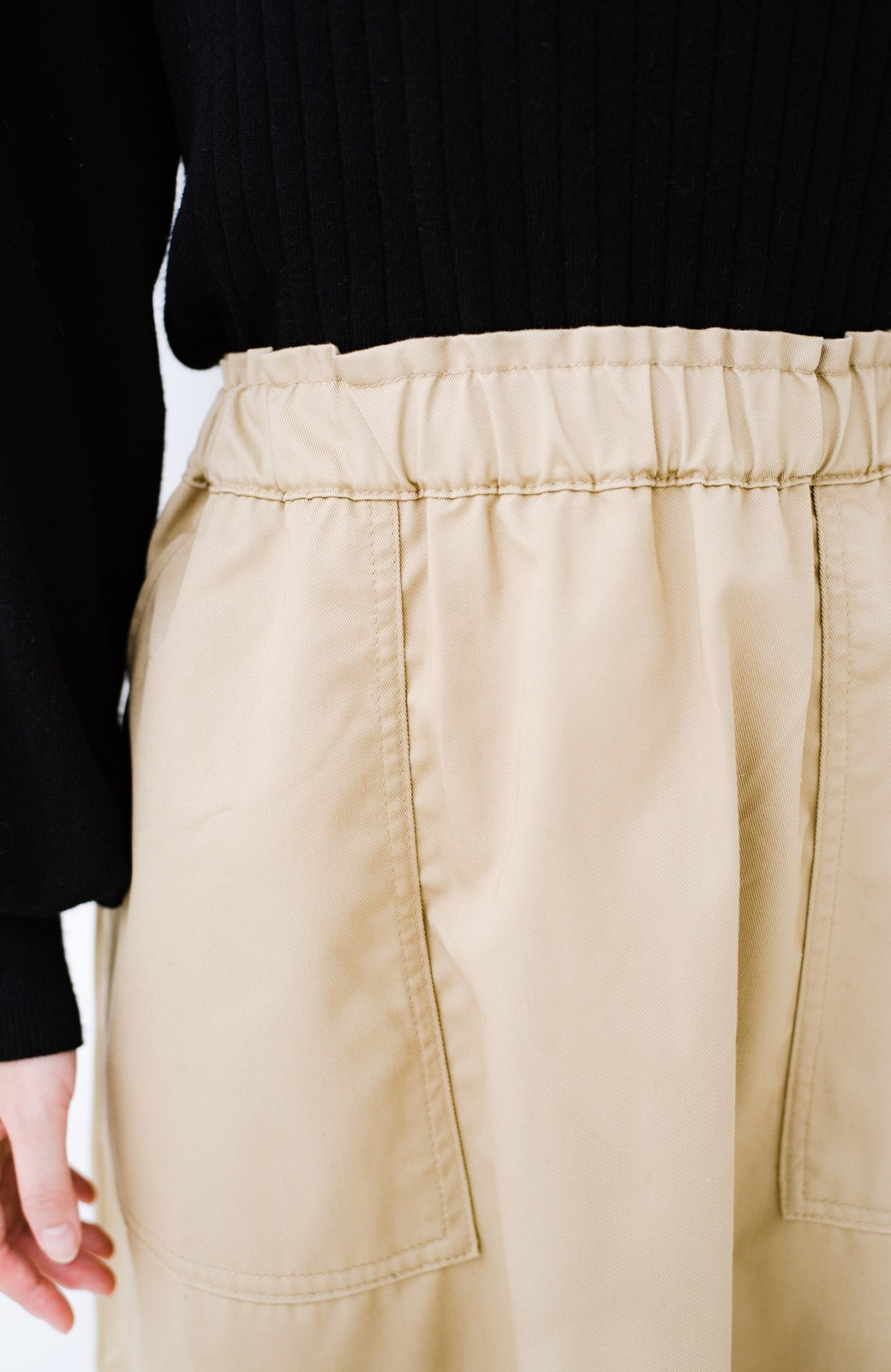 haco! Dickies TCツイル後ろインバーテッドスカート <ベージュ>の商品写真4