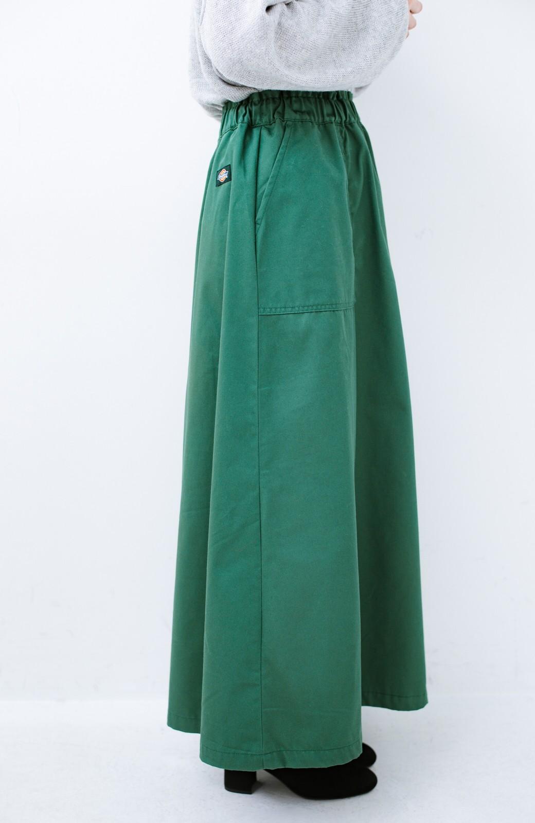 haco! Dickies TCツイル後ろインバーテッドスカート <グリーン>の商品写真3