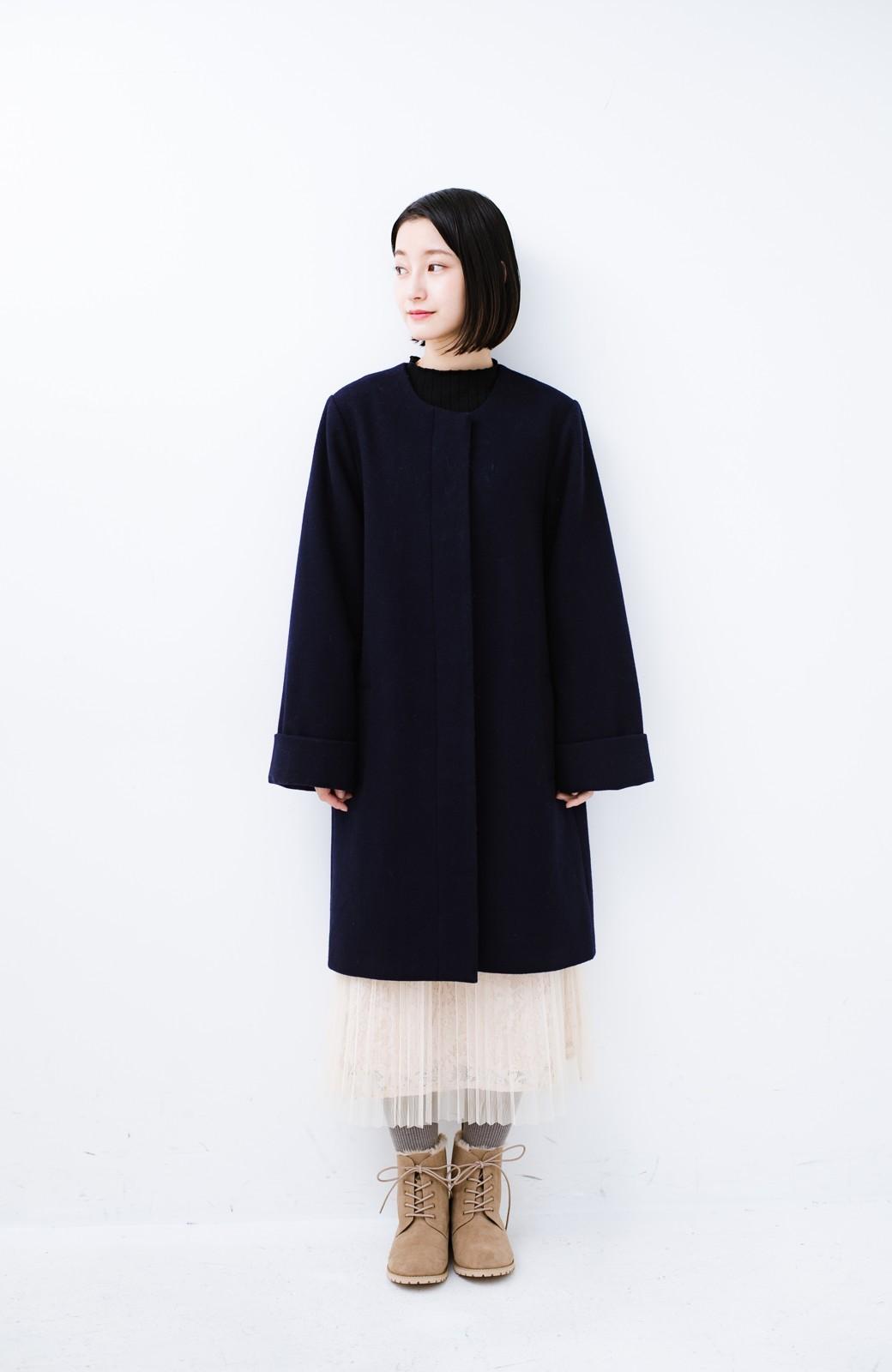 haco! あったか&かわいいを叶えてくれる ふわふわ編み上げブーツ <ベージュ>の商品写真13