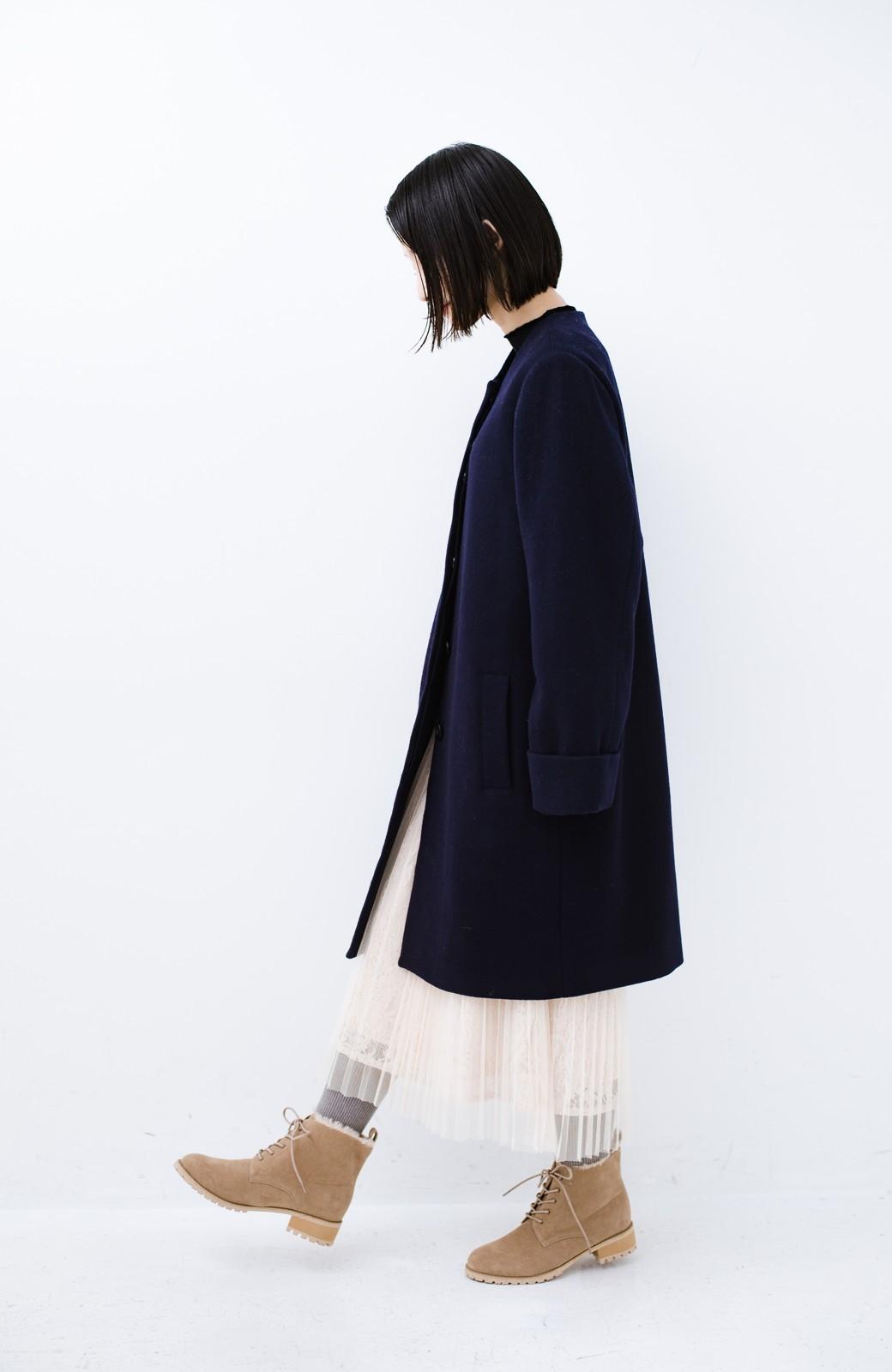 haco! あったか&かわいいを叶えてくれる ふわふわ編み上げブーツ <ベージュ>の商品写真14