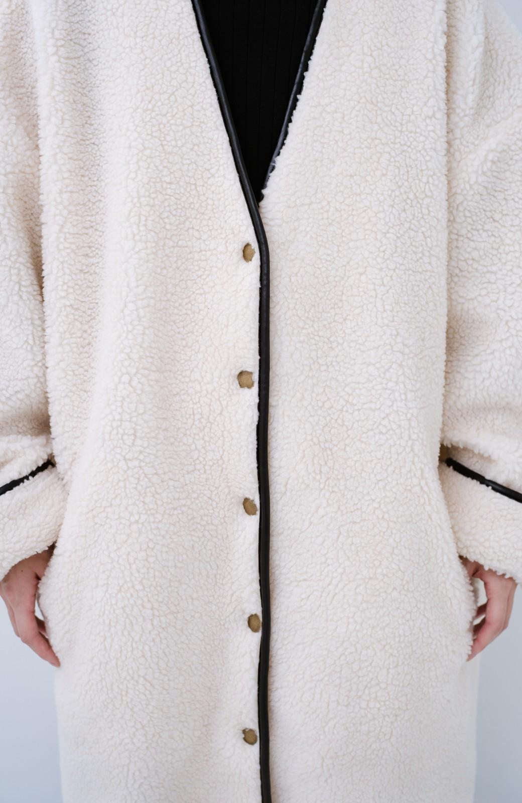 haco! パッと着てオシャレ&あったか なでなでしたくなるボアジャケット <アイボリー>の商品写真3
