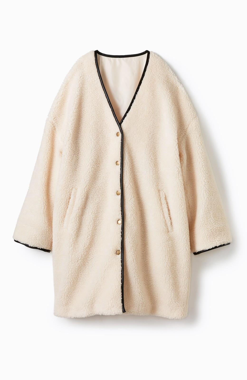 haco! パッと着てオシャレ&あったか なでなでしたくなるボアジャケット <アイボリー>の商品写真2