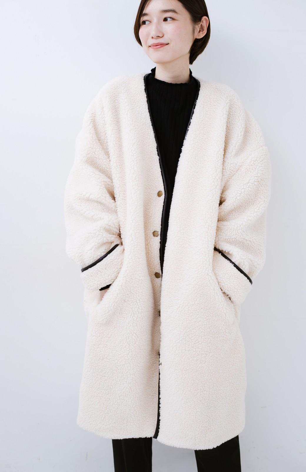 haco! パッと着てオシャレ&あったか なでなでしたくなるボアジャケット <アイボリー>の商品写真17