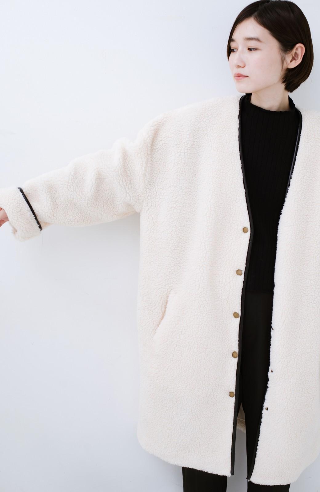 haco! パッと着てオシャレ&あったか なでなでしたくなるボアジャケット <アイボリー>の商品写真18
