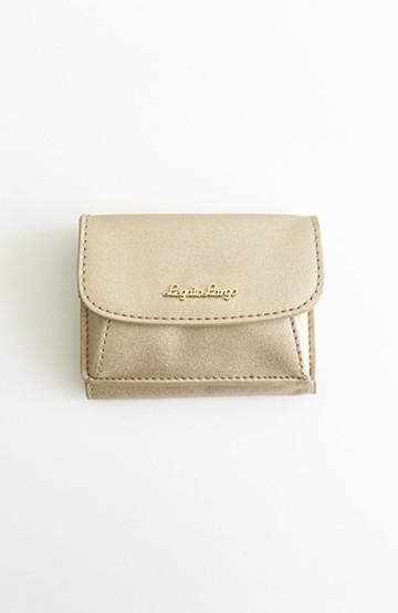 haco! Legato Largo シャイニーフェイクレザー 三つ折りミニ財布 <ゴールド>の商品写真
