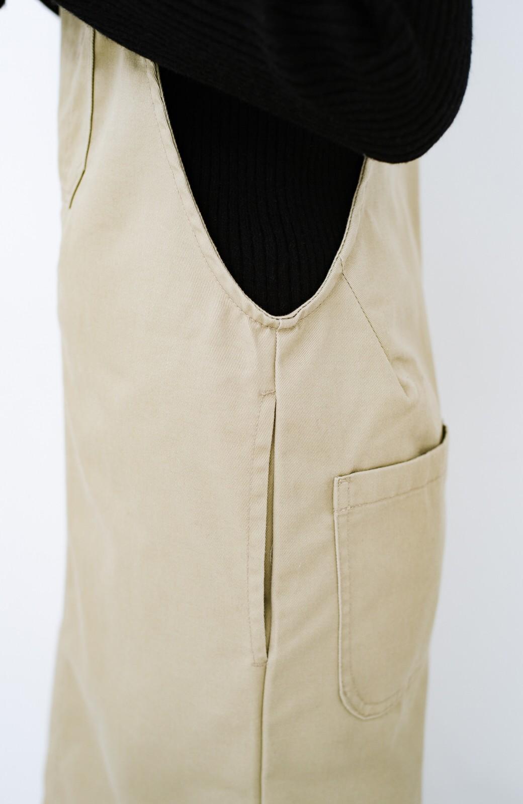 haco! Dickies TCツイルオーバーオールスカート <ベージュ>の商品写真5