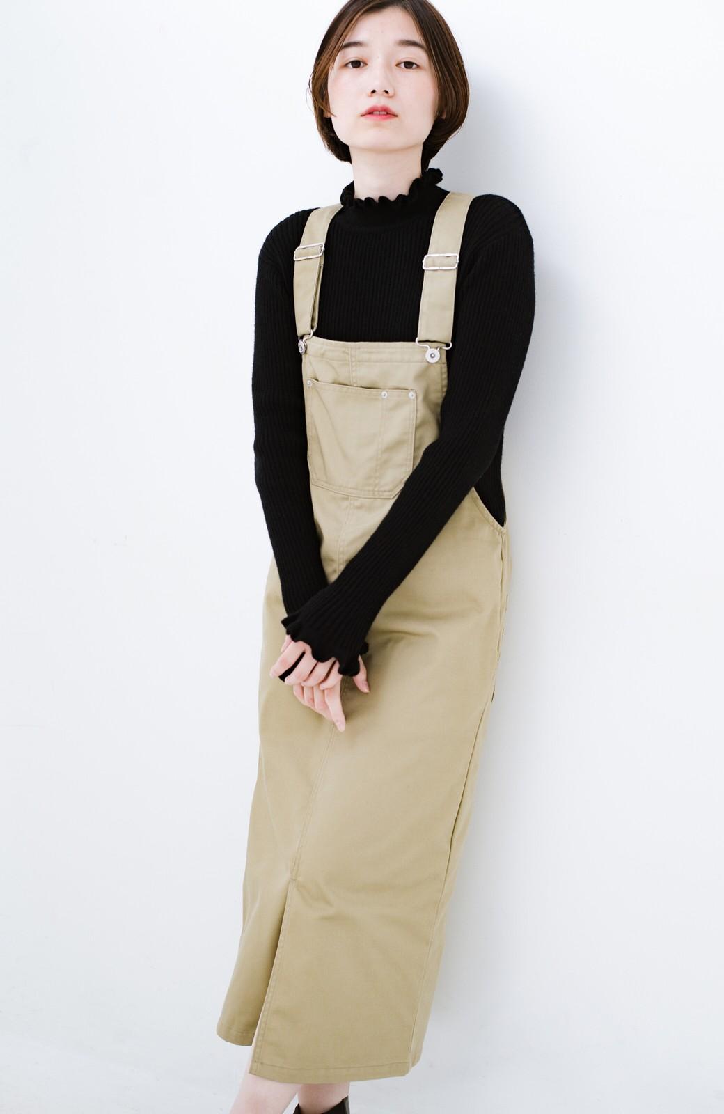 haco! Dickies TCツイルオーバーオールスカート <ベージュ>の商品写真9