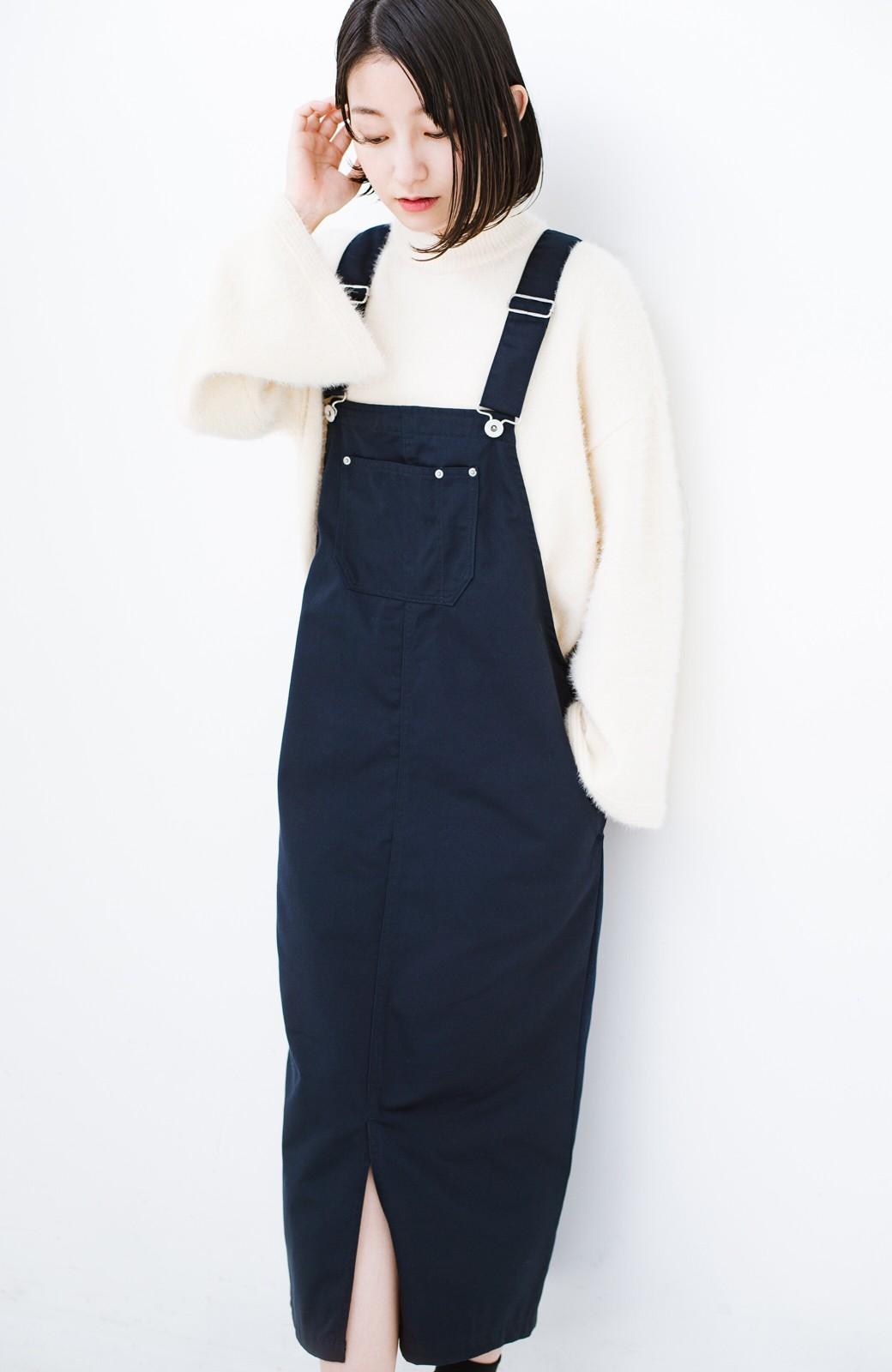haco! Dickies TCツイルオーバーオールスカート <ネイビー>の商品写真10