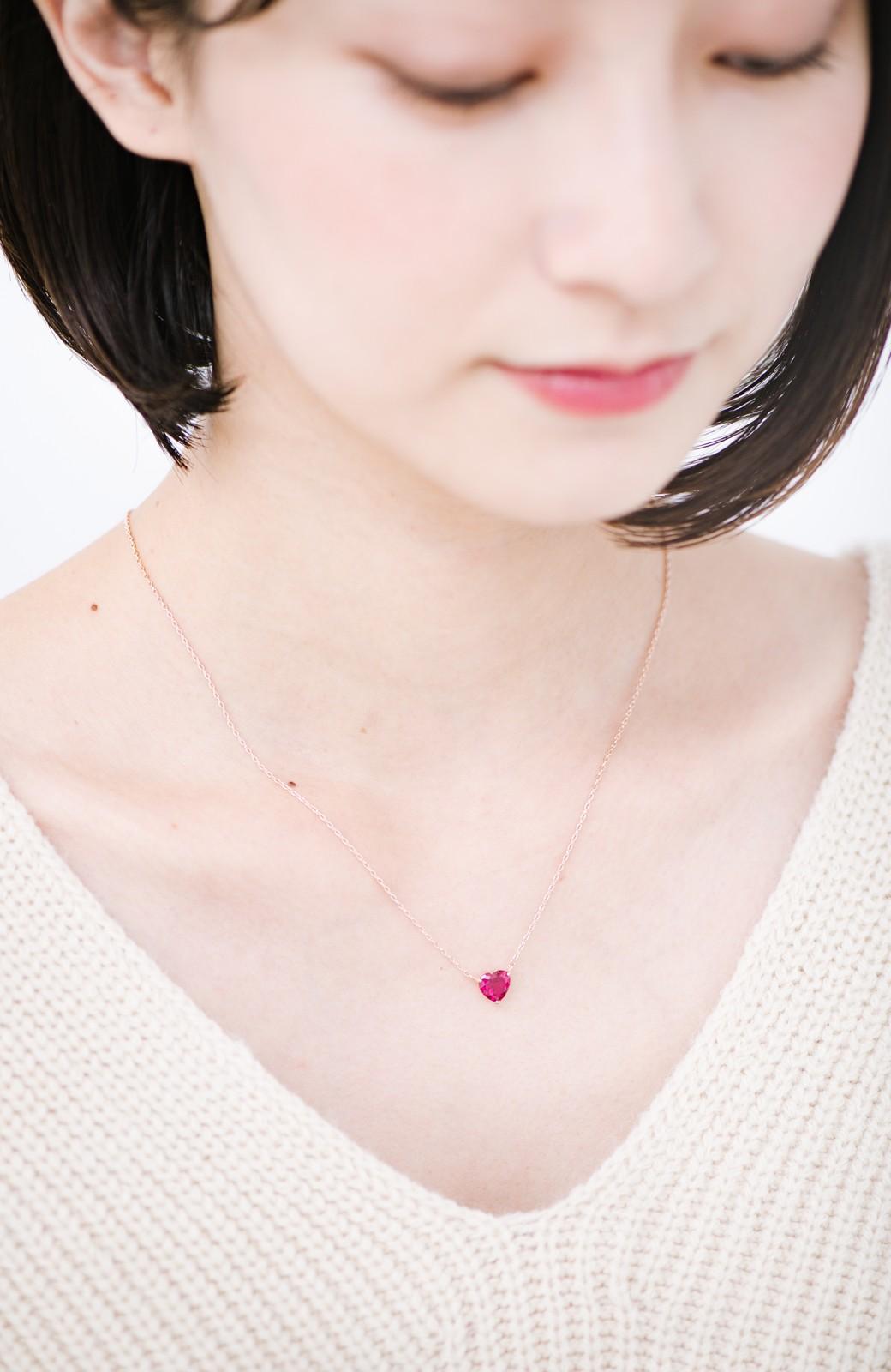 haco! いつでも乙女心と一緒ピンクハートのビジューピアス&ネックレスセット <ゴールド>の商品写真5