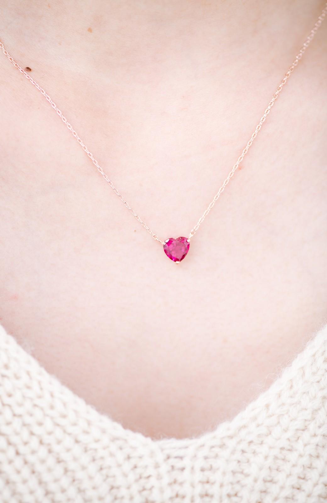 haco! いつでも乙女心と一緒ピンクハートのビジューピアス&ネックレスセット <ゴールド>の商品写真6