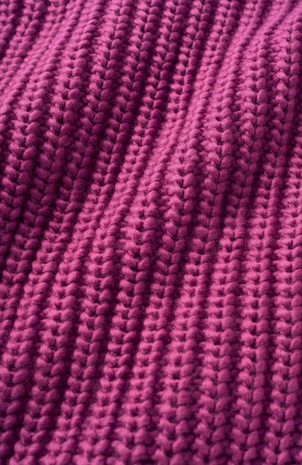 haco! <スザンヌさんコラボ>ラブ&ピースプロジェクト 袖リボンポイントの片畦編みニットトップス <パープル>の商品写真4