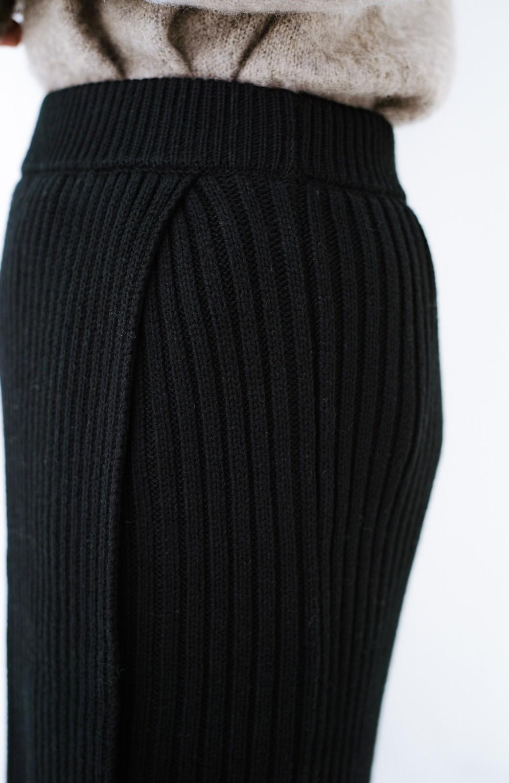haco! カジュアルに合わせてもオンナっぽさを忘れないロングニットスカート by MAKORI <ブラック>の商品写真7