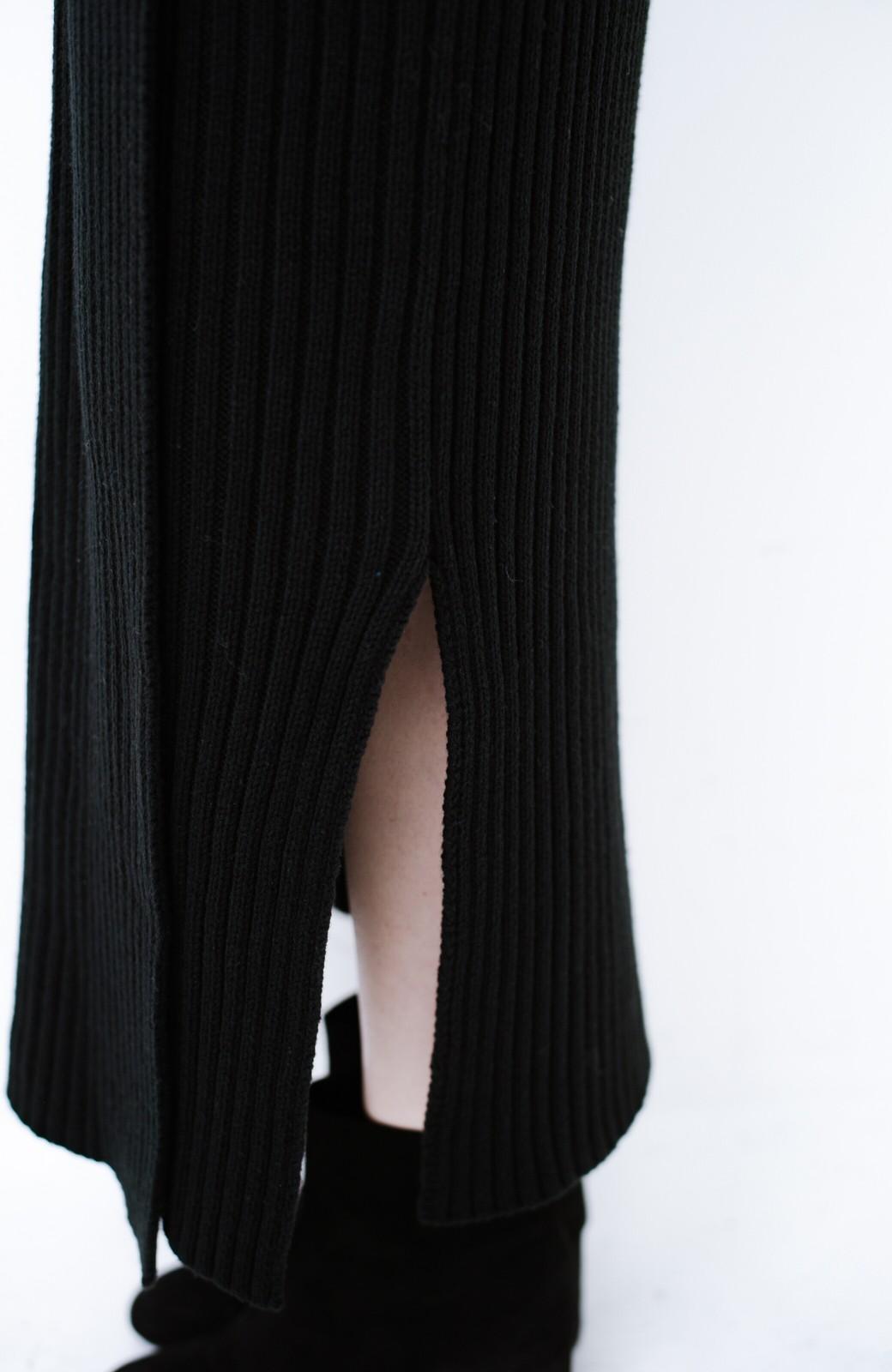 haco! カジュアルに合わせてもオンナっぽさを忘れないロングニットスカート by MAKORI <ブラック>の商品写真8