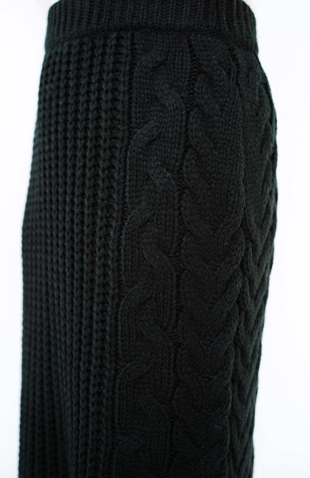haco! 着るだけで完成するケーブル編みニットセットアップ <ブラック>の商品写真26