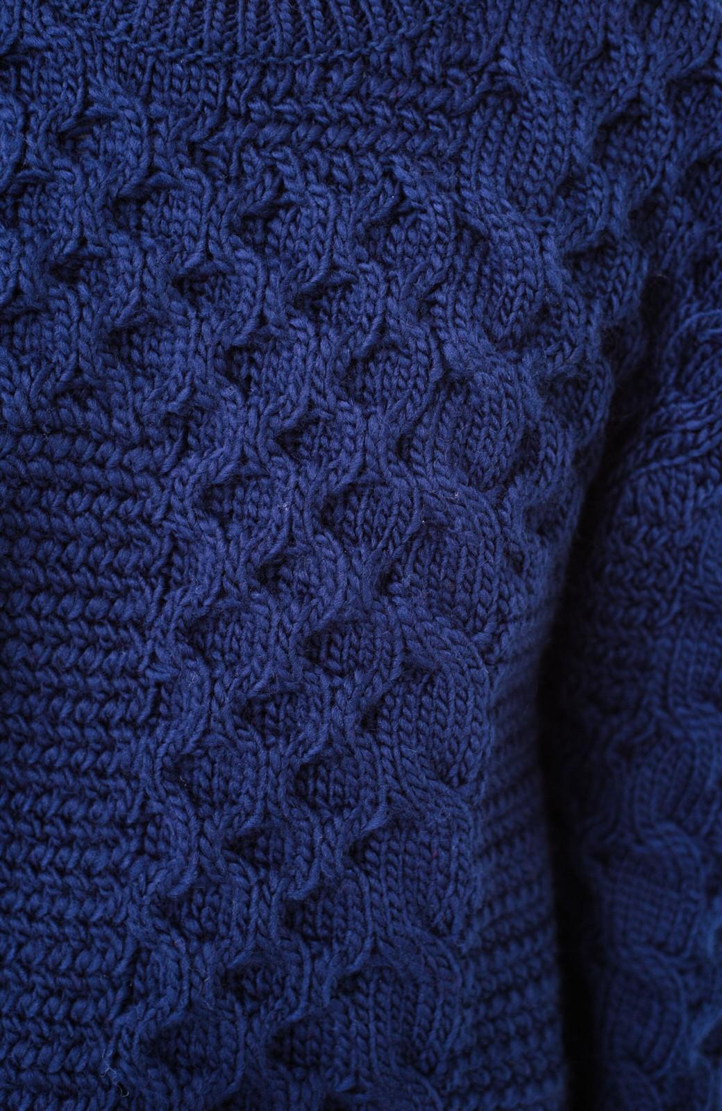 haco! 古着っぽい雰囲気がこなれたパネル編みケーブルニット <ネイビー>の商品写真7