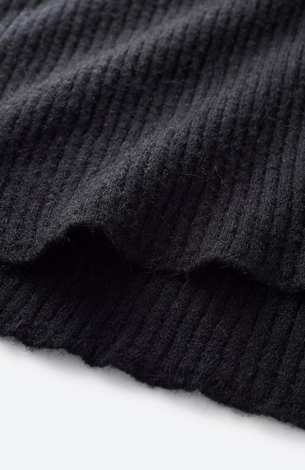 haco! パッと着るだけでかわいくなれそうな気がするフリルリブニット <ブラック>の商品写真3