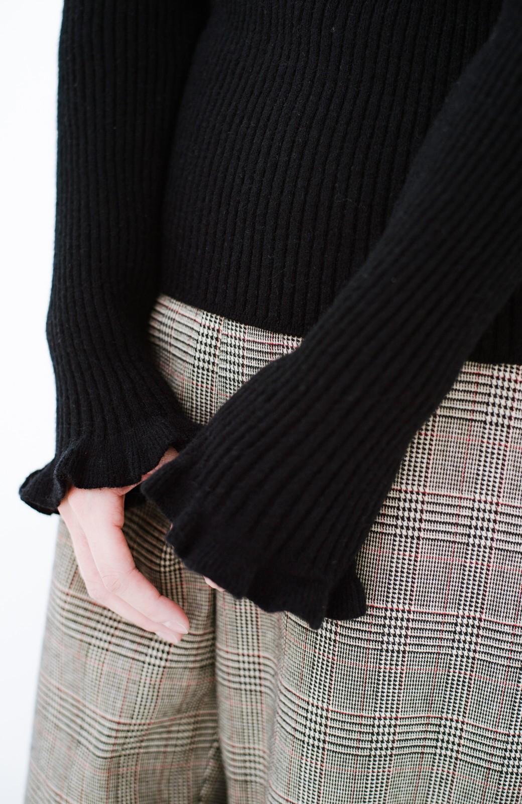 haco! パッと着るだけでかわいくなれそうな気がするフリルリブニット <ブラック>の商品写真6