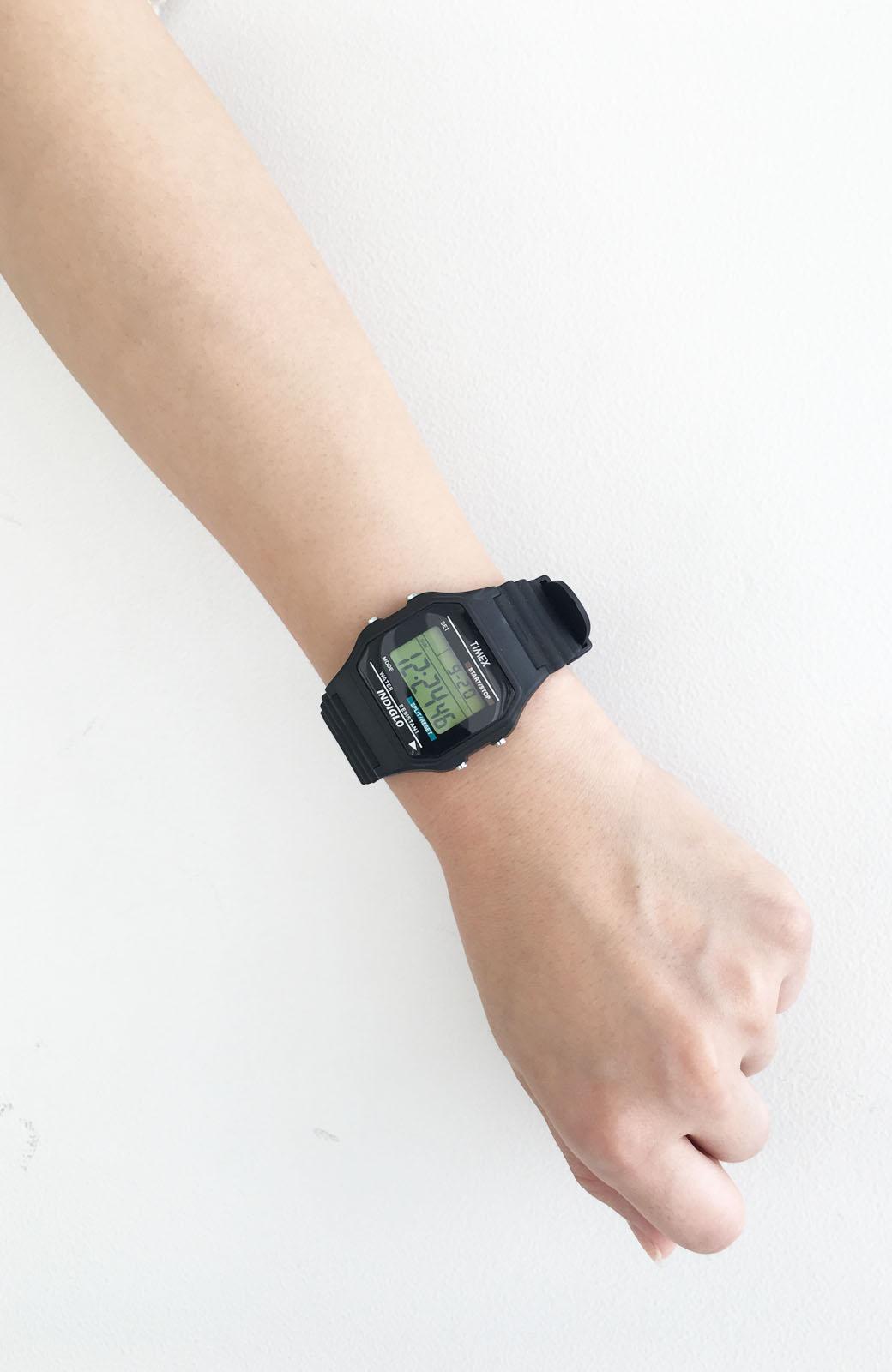 haco! TIMEX クラシックデジタル <ブラック>の商品写真4