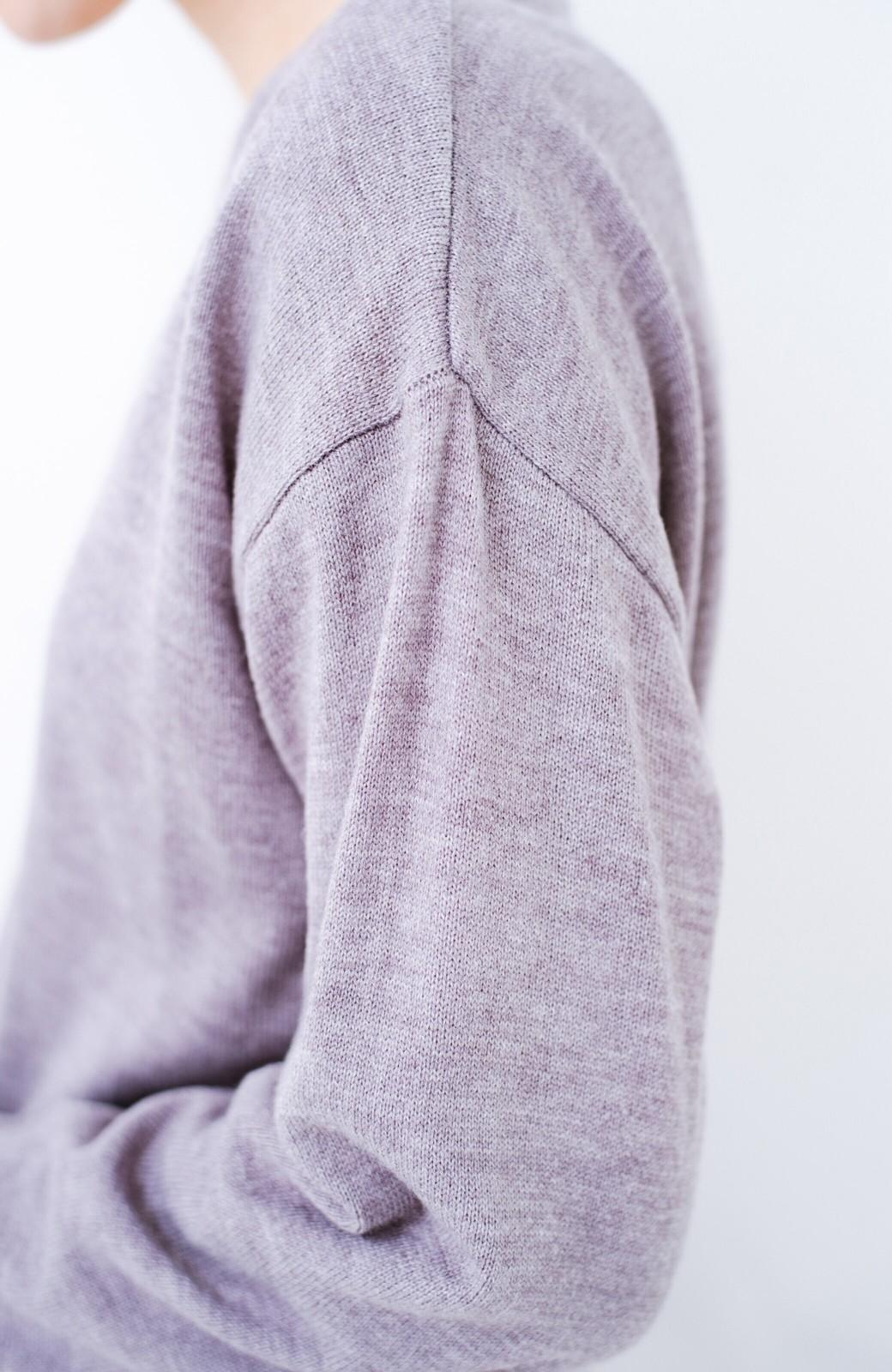 haco! 寝坊した朝でも安心!パッと着るだけでコーデが完成する女っぽニットアップ <杢グレー>の商品写真4