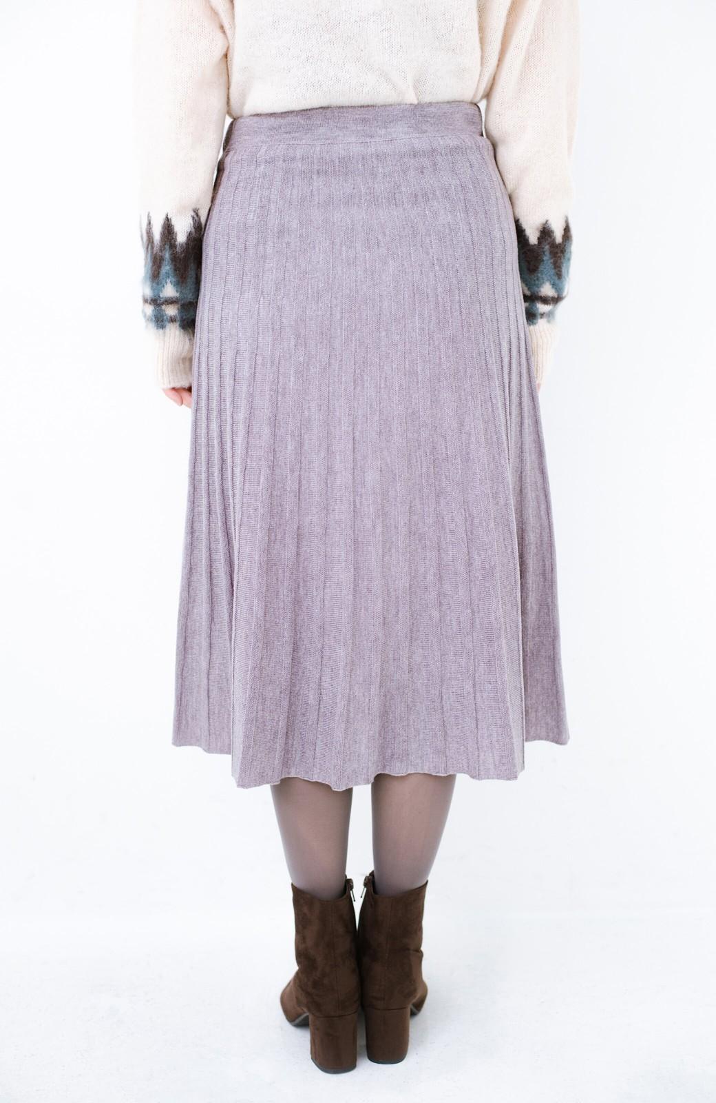 haco! 寝坊した朝でも安心!パッと着るだけでコーデが完成する女っぽニットアップ <杢グレー>の商品写真8