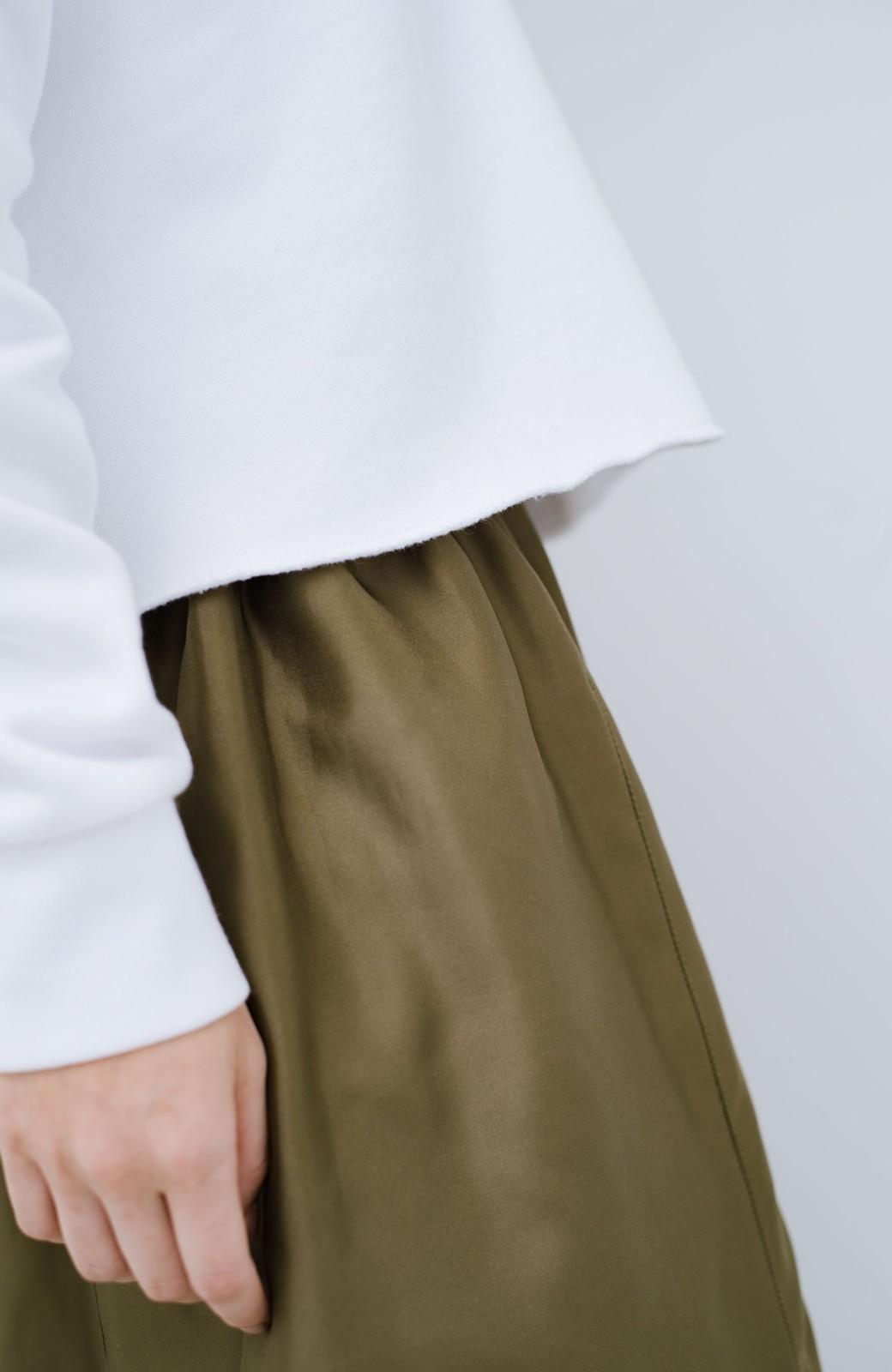 haco! PBPオーガニックコットン 古着屋さんにありそうなかわいい裏起毛パーカー <ホワイト>の商品写真4