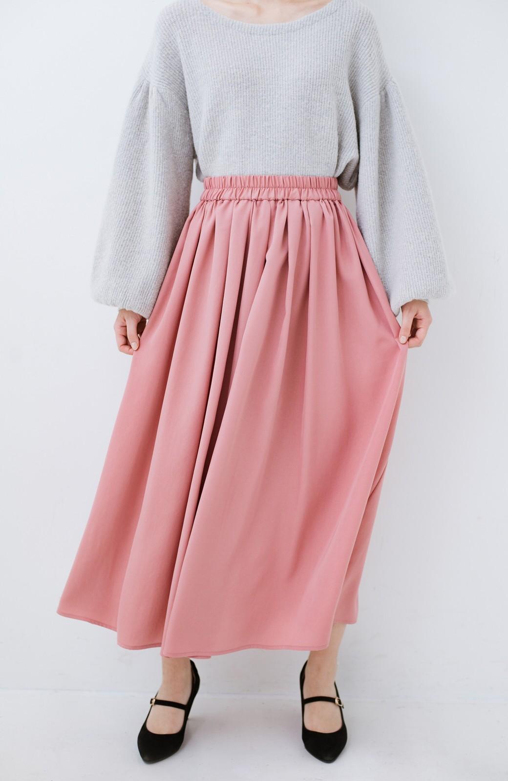 haco! きれいなお姉さんになれる気がするミモレ丈フレアースカート <ピンク>の商品写真4