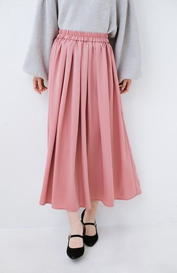 haco! きれいなお姉さんになれる気がするミモレ丈フレアースカート <ピンク>の商品写真