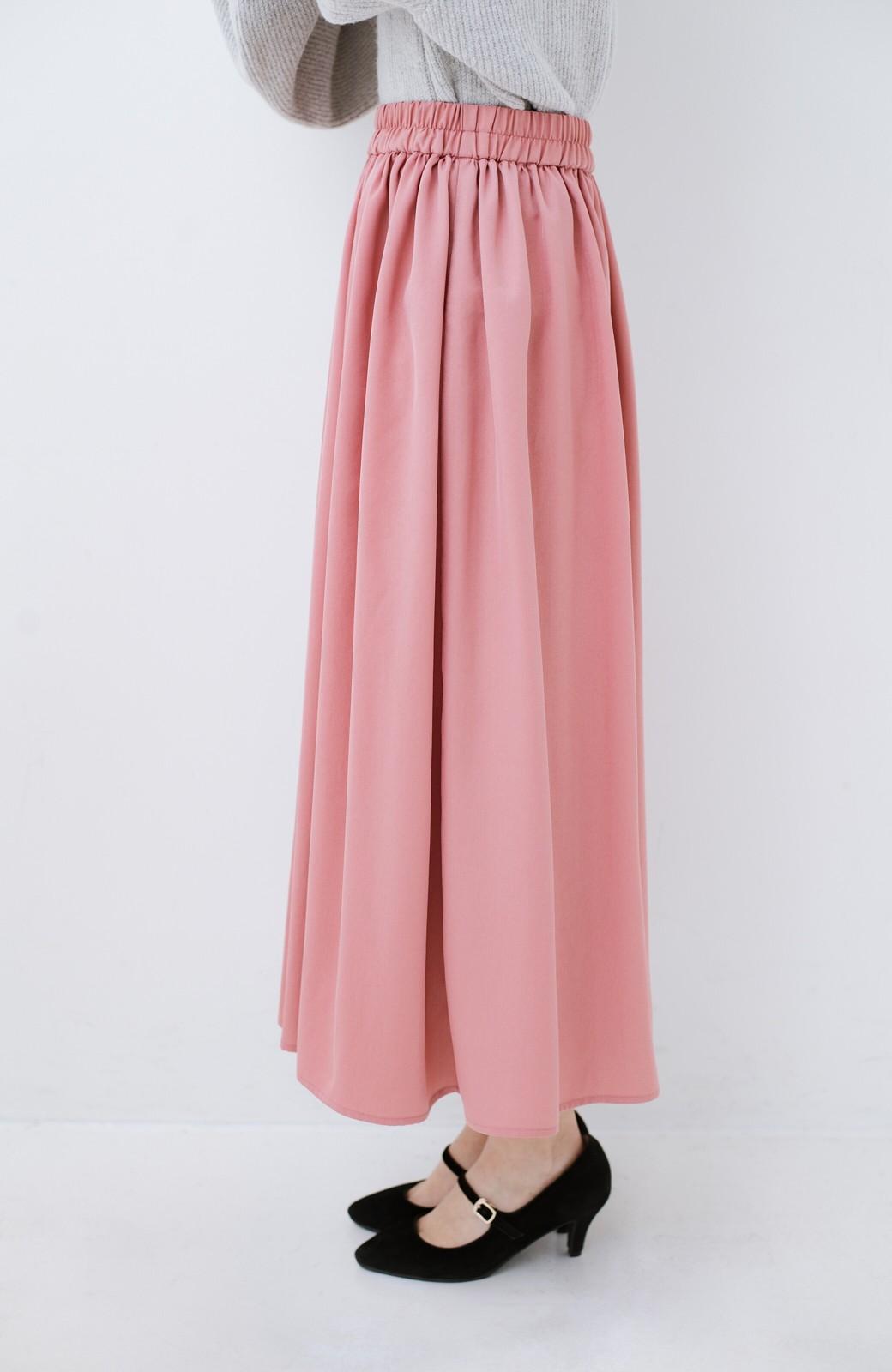 haco! きれいなお姉さんになれる気がするミモレ丈フレアースカート <ピンク>の商品写真5