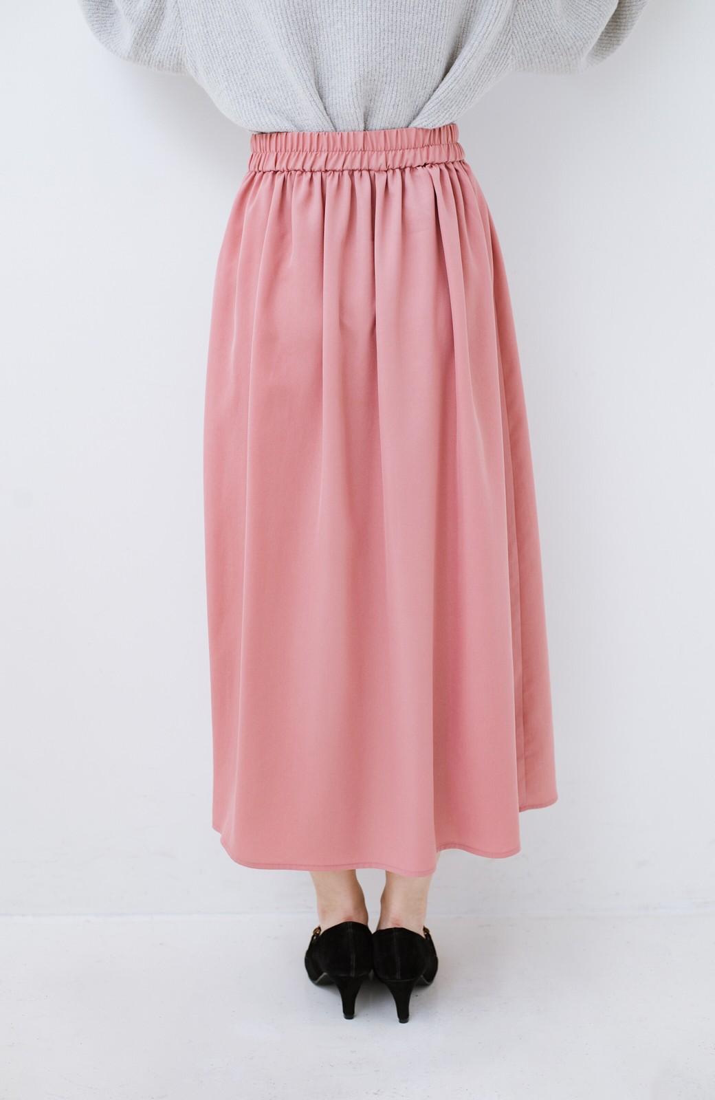 haco! きれいなお姉さんになれる気がするミモレ丈フレアースカート <ピンク>の商品写真6