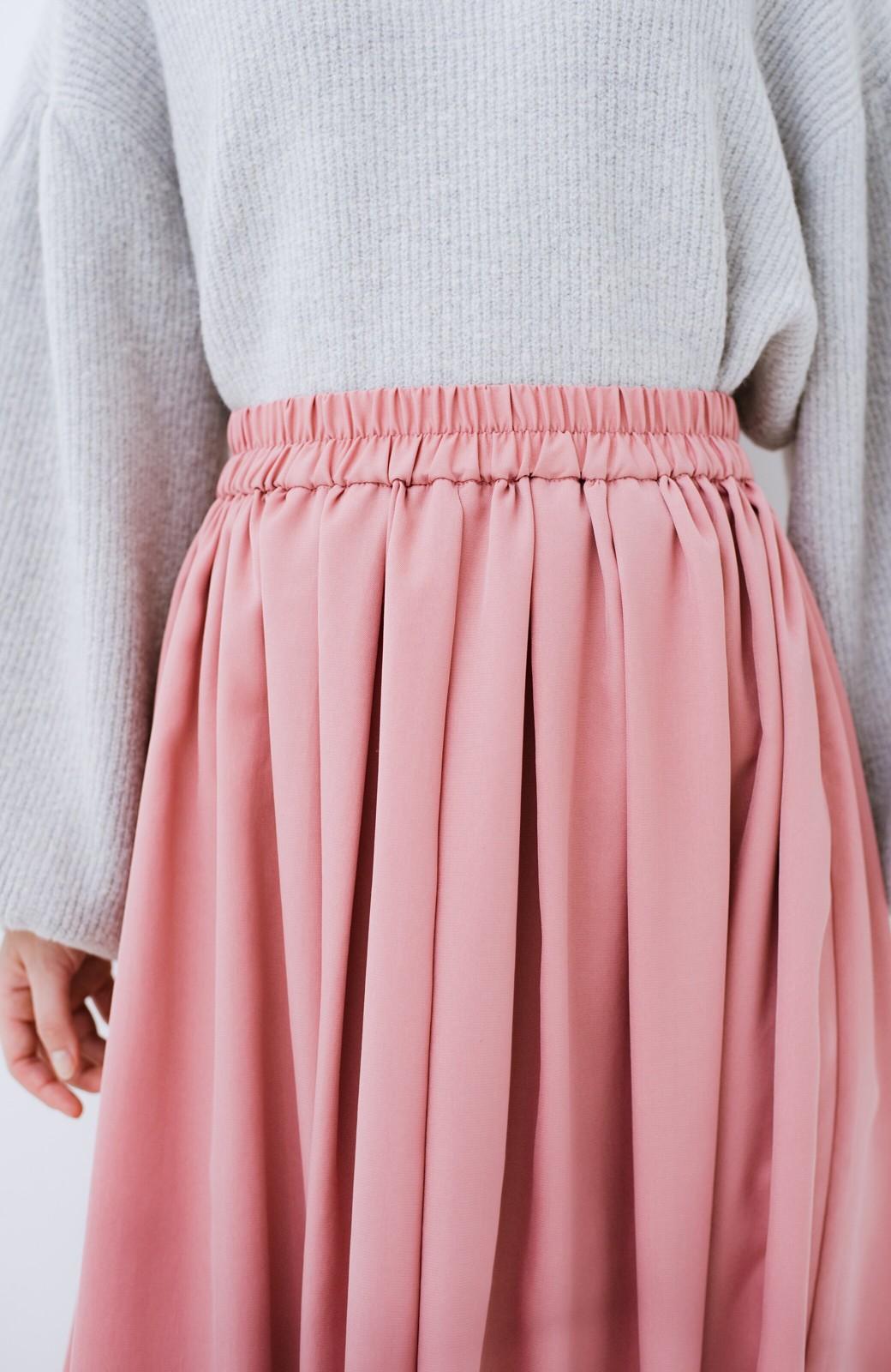 haco! きれいなお姉さんになれる気がするミモレ丈フレアースカート <ピンク>の商品写真7