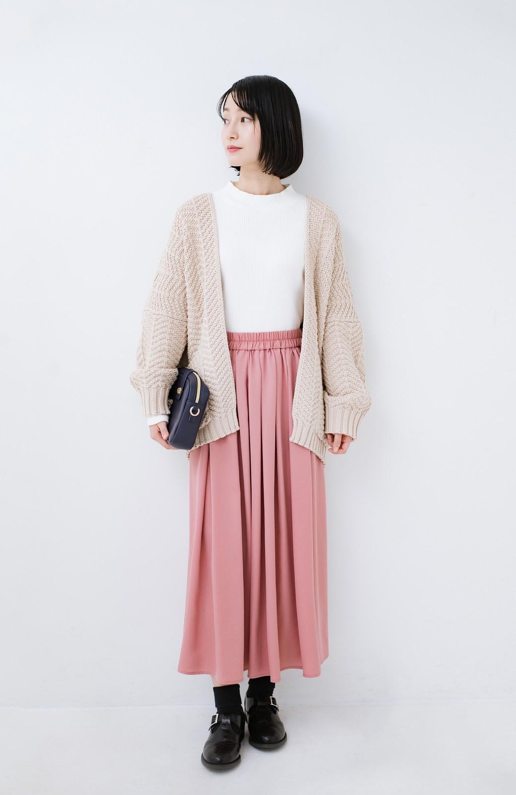 haco! きれいなお姉さんになれる気がするミモレ丈フレアースカート <ピンク>の商品写真11